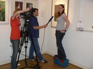 Center TV Aufnahme mit Sandra Honigs vom Aquazoo